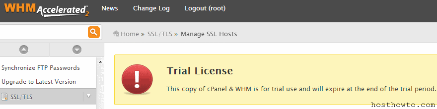 How To Active Cpanel License After Trail - Hosthowto com