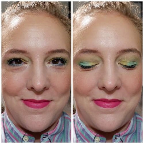 beauty bay pastels eyeshadow palette easter egg pastel colorful review swatch dry skin fair skin makeup look application