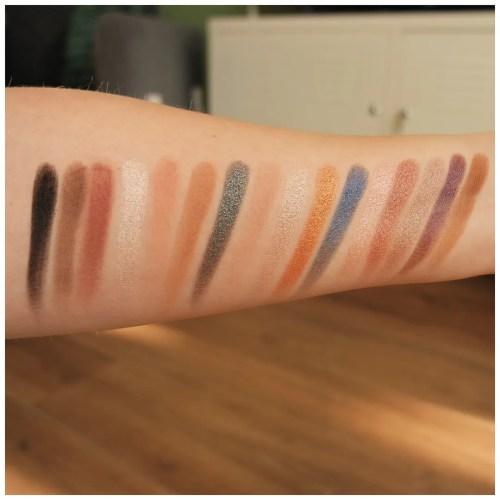 bh cosmetics love in london eyeshadow palette review swatch makeup look fair skin cool toned