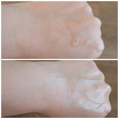 catrice glow beautifying face oil 4 oils jojoba almond argan rose review swatch application fair skin dry skin primer