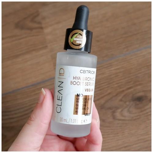catrice clean id hyaluronic boost serum skincare review swatch fair skin sensitive skin dry skin