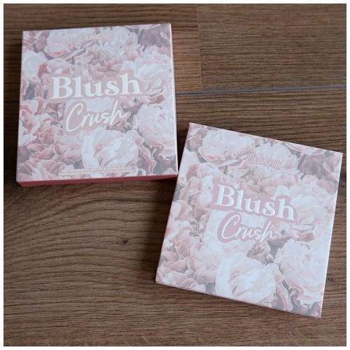colourpop blush crush eyeshadow palette review swatch makeup look application fair skin