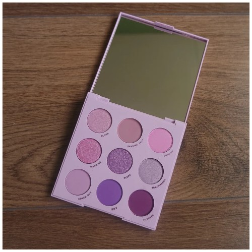 colourpop lilac you a lot eyeshadow palette review swatch makeup look fair skin