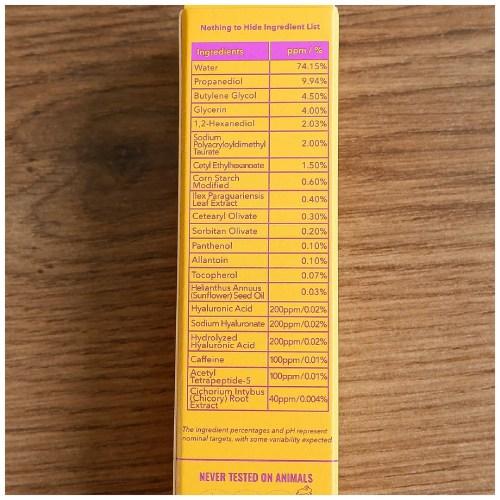Good Molecules Yerba Mate Wake Up Eye Gel eye cream skincare review swatch fair skin dry skin sensitive skin