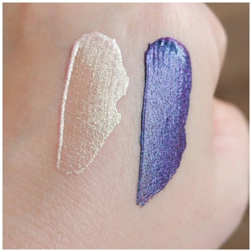 lethal cosmetics glitch liquid multichrome eyeshadow review swatch gateway payload eye look application makeup look fair skin