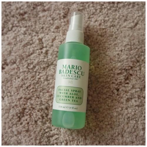 Mario Badescu facial spray aloe cucumber green tea review swatch skincare