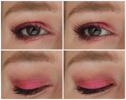 Natascha Denona Lila eyeshadow palette review swatch makeup look 3 looks 1 palette fair skin