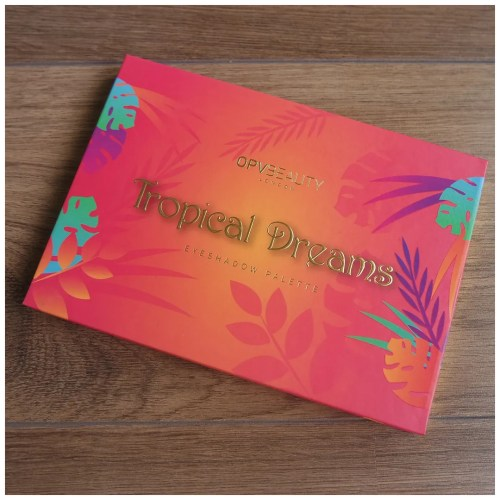 opv beauty tropical dreams eyeshadow palette review swatch makeup look application