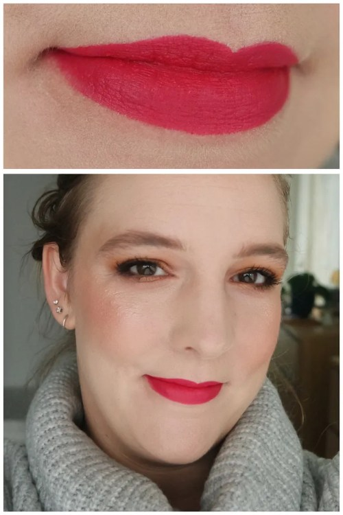 pat mcgrath labs mattetrance matte trance lipstick mini review swatch makeup look application fair skin elson obsessed! full panic