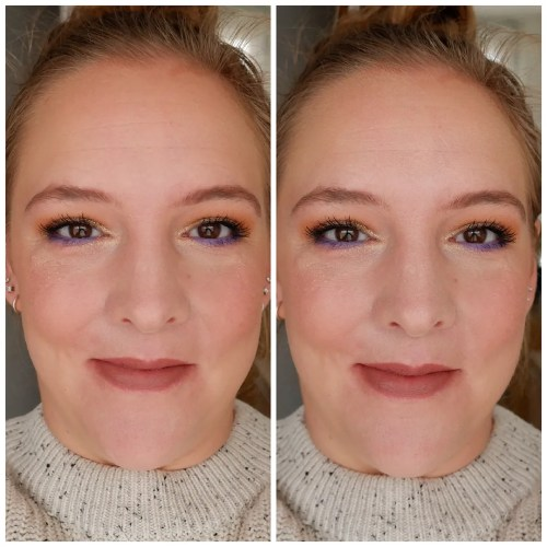 too faced hangover rx 3 in 1 setting spray review swatch application makeup look dry skin