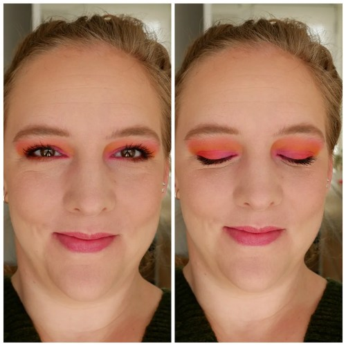 urban decay wired eyeshadow palette review swatch makeup look 3 looks 1 palette fair skin