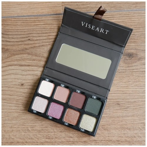 Viseart Petit pro 3 eyeshadow palette review swatch makeup look application fair skin