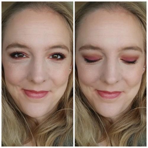 wet n wild rosé in the air eyeshadow palette review swatch makeup look