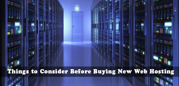 Buying New Web Host