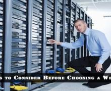 5 Major Factors to Consider Before Choosing a Web Host