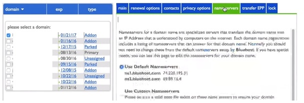 How to Change your Name Servers in Bluehost3