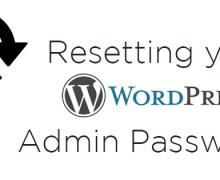 Resetting your WordPress Admin Password