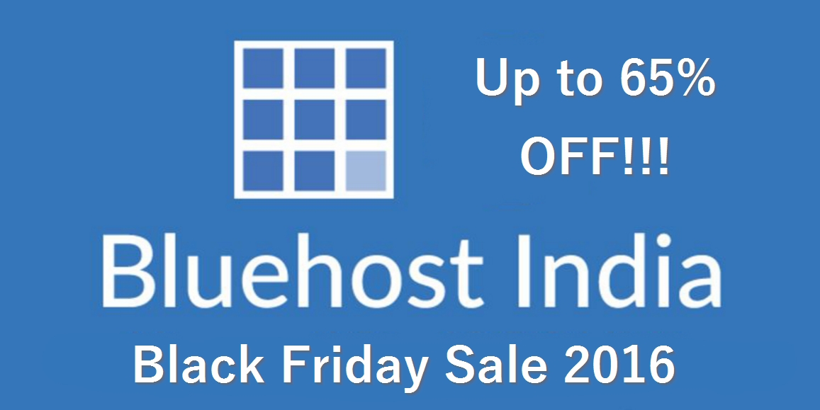 Bluehost India Black Friday 2016