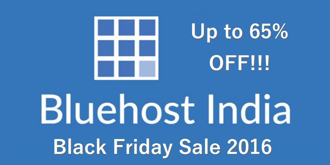 Bluehost India Black Friday 2016