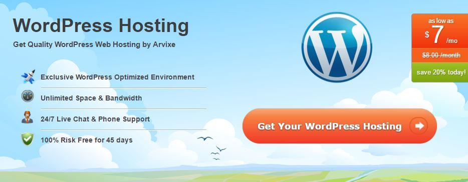 Arvixe WordPress