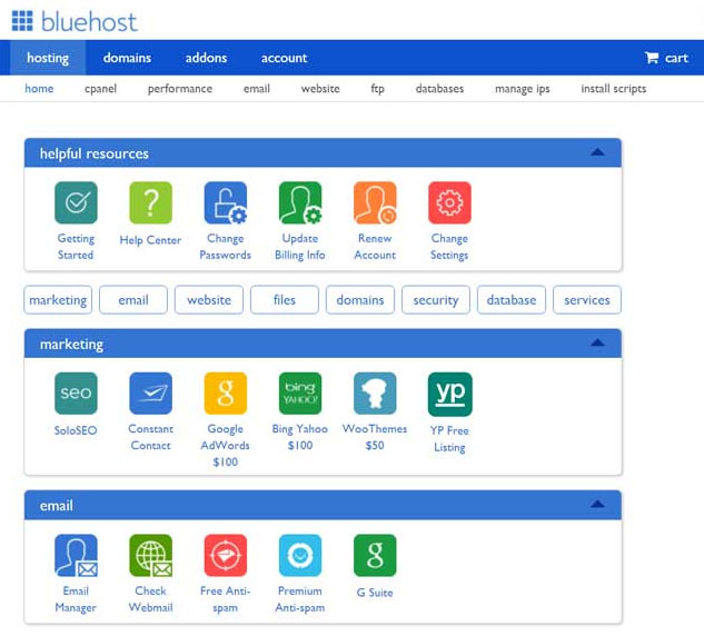Bluehost coupon 2.95