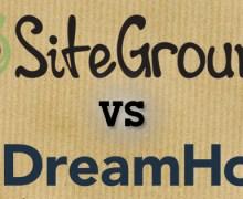 Siteground Vs DreamHost