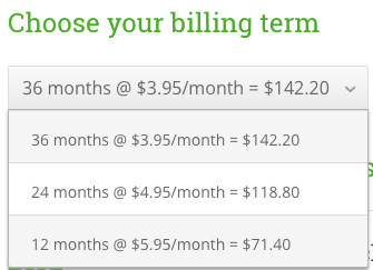 HostPapa One, Two, and Three-Year Pricing