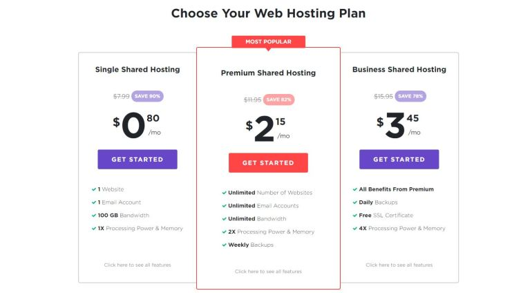 Hostinger pricing