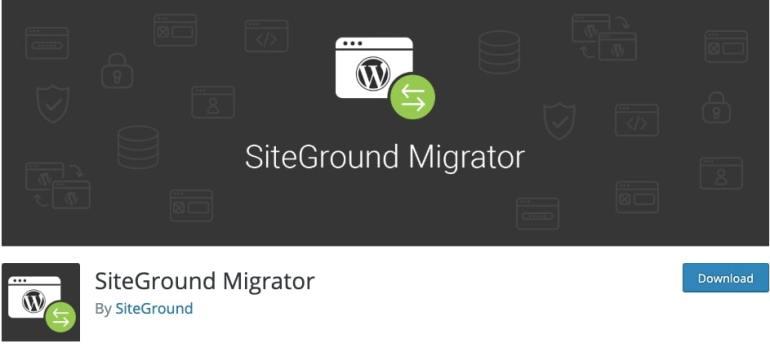 SiteGround WordPress Migration Plugin