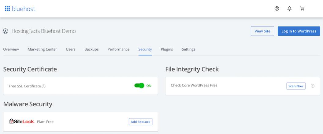 Bluehost customer portal example