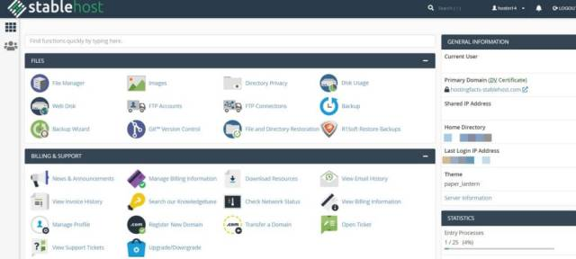 Stablehost cpanel
