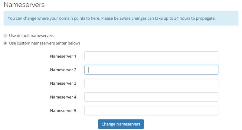 Penukaran NameServer Hosting Malaya