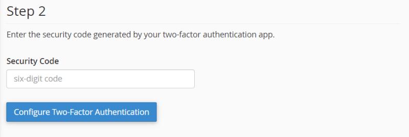 enter security code 6 digit
