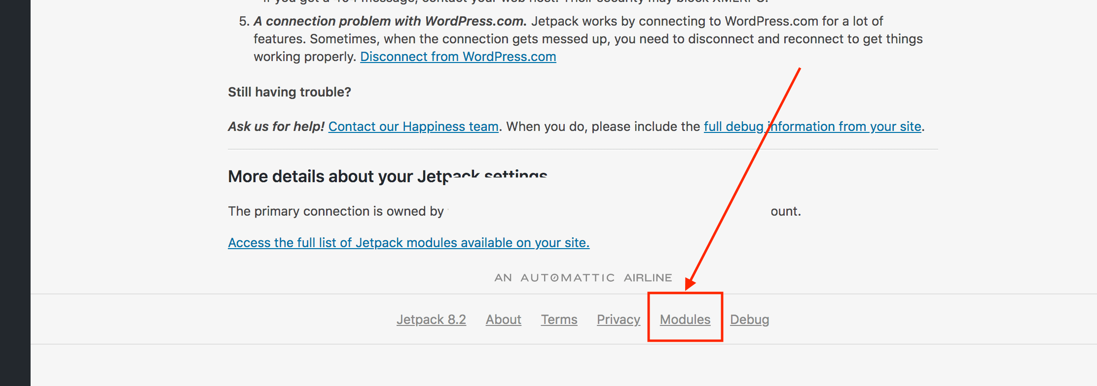 How to manage the JetPack plugin modules