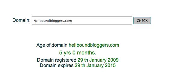 HBB Domain Age