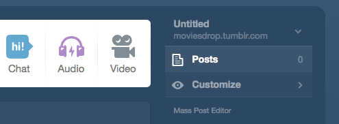 Tumblr Customize Option