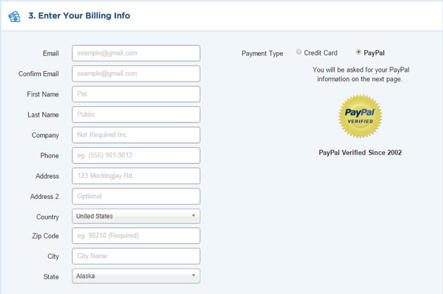 Billing info