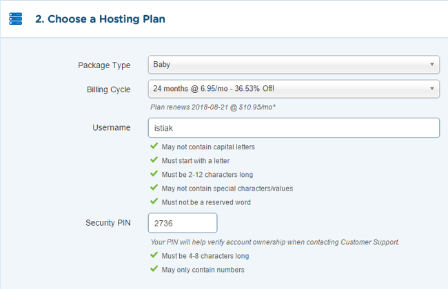 HostGator Hosting Package