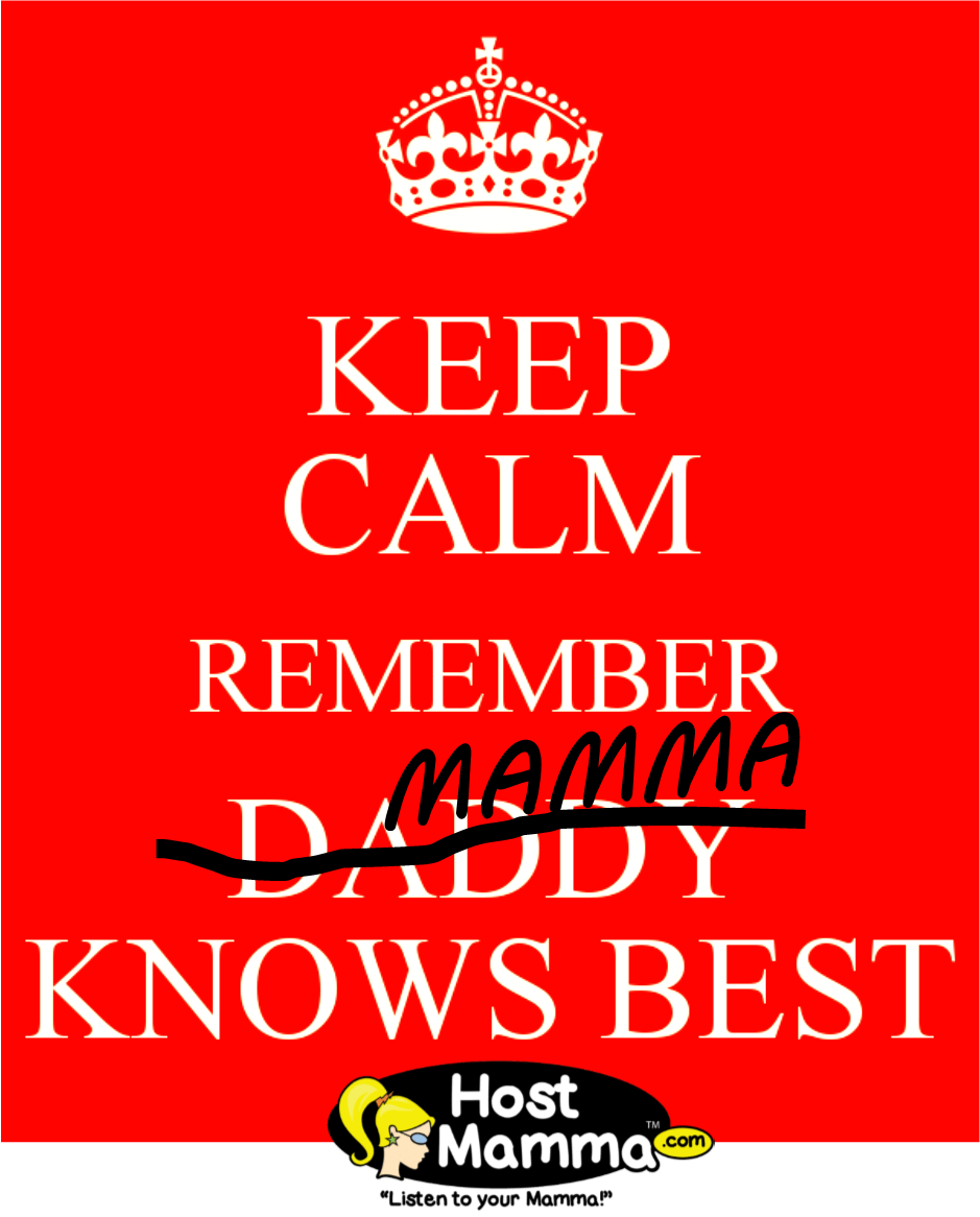 Keep Calm. Mamma Knows Best.
