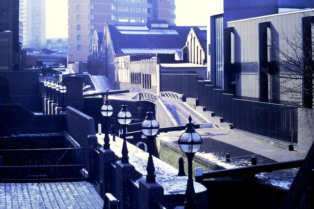 Canal view Newhall Street 1986