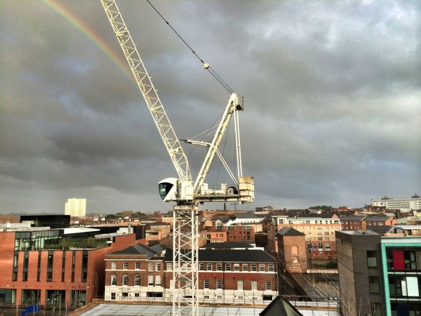 Rainbow crane