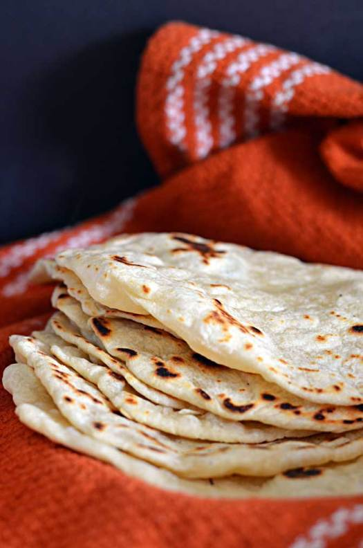 Homemade Flour Tortillas.  I'm never using store bought again.  These are so easy and SO GOOD. | hostthetoast.com