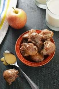 Easy Applesauce Drop Doughnuts With Caramel Glaze Host