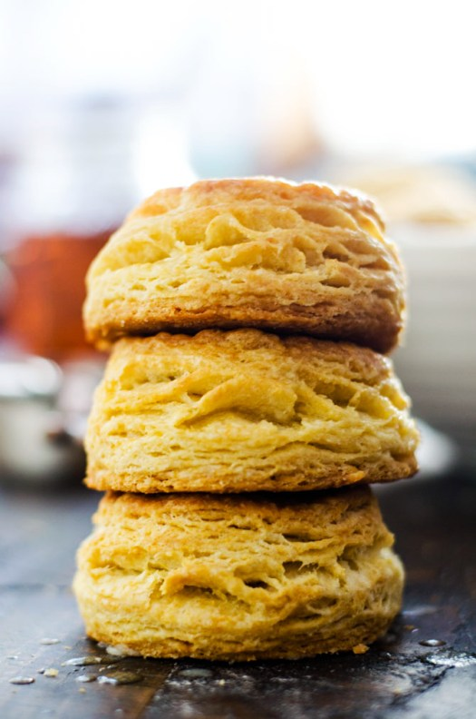 Ultra Flaky Buttermilk Biscuits. These golden, flaky, layer-packed biscuits are a must for breakfast, lunch, and dinner. Plus you can make them ahead and freeze before baking so you can have beautiful biscuits any time you crave them.   hostthetoast.com