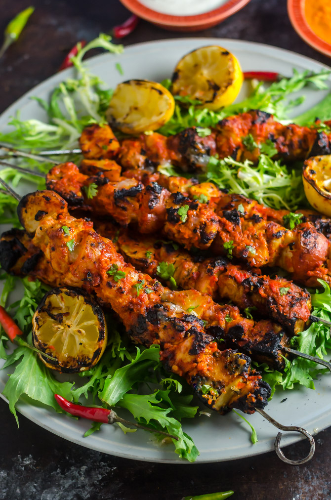 Piri Piri Chicken and Potato Skewers. This Portuguese and African inspired dish is spicy, smoky, tangy, and tender. It'll be a hit during grilling season. | hostthetoast.com