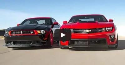 mustang vs camaro muscle cars