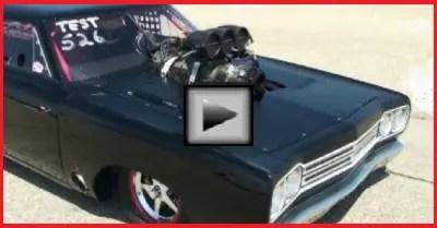 blown hemi roadrunner muscle car