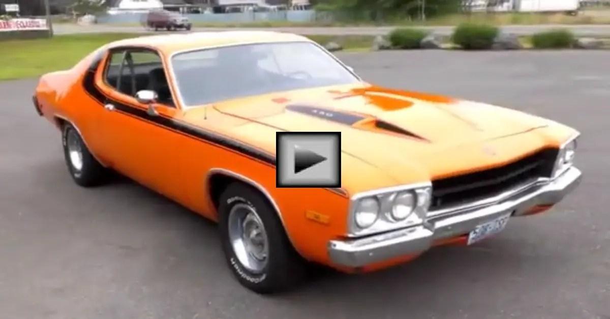 orange Plymouth Road Runner mopar muscle car