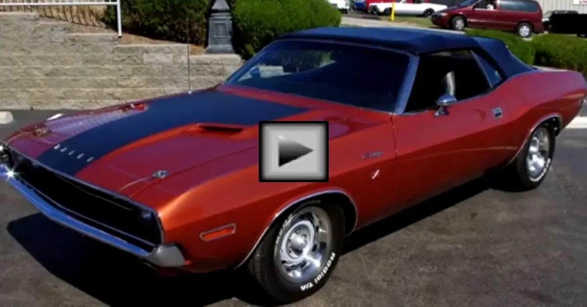 1970 Dodge Challenger Convertible 340 V8 Mopar muscle car