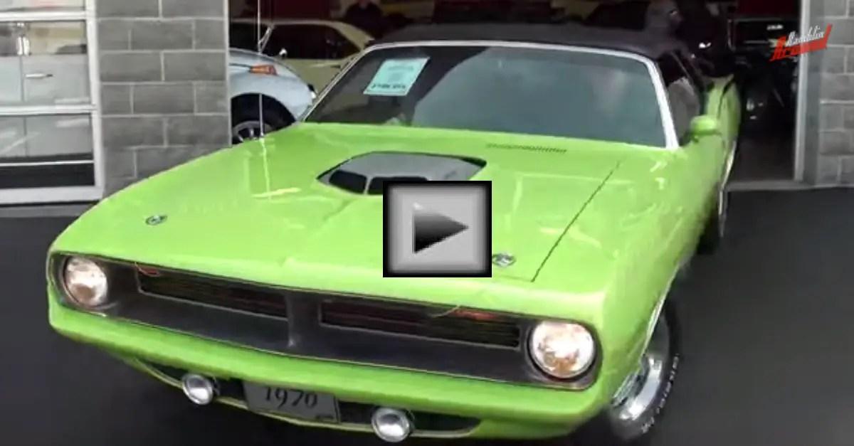 Test Driving 1970 Plymouth Cuda 572 Hemi Convertible mopar muscle car